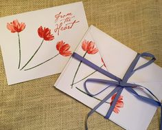 Dawn Frost Designs featured on The Paper Chronicles' Letter Writing Campaign; hand stamped note cards made in USA