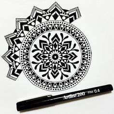 Winding down after an action packed day meeting our 5 new dachshund puppies! #draw #drawing #doodle #doodling #doodleart #mandala #pattern #design #paper #pen #artline #black #ink #tattoo #art #myart #boho #beautiful_mandalas #gypsy #hippie #hippy #inspired #sketch #wip