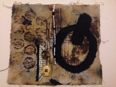 Based on a mechanical theme, screen print, mono-print and collages materials. Inspired by Dawn Dupree.