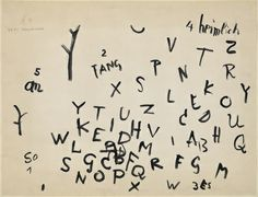 Paul Klee, Beginning of a poem.
