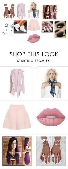 """""""(Name) at their 2nd concert"""" by novarrose on Polyvore featuring Velvet by Graham & Spencer, RED Valentino, Lime Crime, Zoya and Beats by Dr. Dre"""