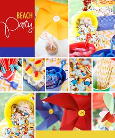 Beach Party with Primary Colors