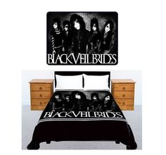 BLACK VEIL BRIDES American Rock Band Bedding Large Size 60x 80 Fleece Throw Blanket Brand New Gift. via Etsy