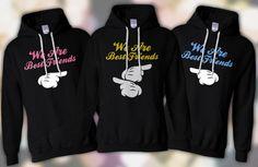 matching jackets for 3 best friends | THREE MATCHING WE ARE BEST FRIENDS HOODIE SWEATSHIRT SHIRT S-XL MICKEY ...