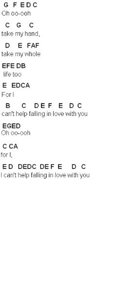 Flute Sheet Music: Can't Help Falling In Love