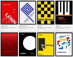 posters películas estilo suizo