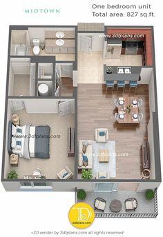 House Floor Design, Sims 4 House Design, Small House Design, Dream Home Design, Modern House Design, Sims House Plans, Small House Plans, House Floor Plans, Studio Apartment Floor Plans