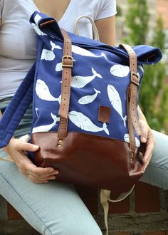 Unique bags and backpacks from quality materials. Manufactured in the heart of Europe. Heart Of Europe, Unique Bags, Blue Whale, Whales, Canvas Leather, Leather Backpack, Backpacks, Fashion, Moda