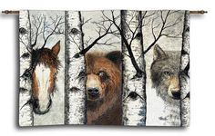 Trio Tapestry Wall Hanging
