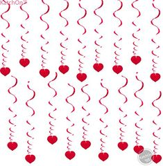 18 Hanging Heart Swirls – Valentines Day Decorations – Valentines Day Hanging Decorations for Ceiling – Great for Anniversary – Wedding – Birthday – Bridal Shower – Bachelorette Party Supplies – - Best Party Ideas 2019 Valentine Tree, Valentines Day Party, Valentines Day Decorations, Bachelorette Party Supplies, Bachelorette Party Decorations, Heart Decorations, Hanging Decorations, Bridal Shower Party, Bridal Showers