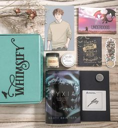 Did you guys see @whimsifybox is doing their first photo challenge this month!! Check out their page for the full details on how you could win a free November box!! . Todays prompt was to post a full unboxing of Octobers Underdogs box and here it is!! This box included:  Strange the Dreamer notebook with custom design by @dorothyreads  Exclusive Wylan print designed by @taratjah  Jane Eyre bath salts by @thesoaplibrarian  Exclusive Neville candle by @Liber_deStella  Stranger Things bookmark…