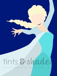 FOUR Frozen 8x10 Minimalist Poster by TintsShadesFineArt on Etsy
