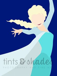 FOUR Frozen 8x10 Minimalist Poster by TintsShadesFineArt on Etsy