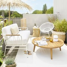 Bamboo and wire side table | Maisons du Monde