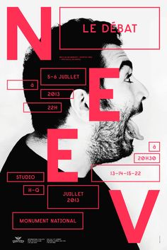 Poster for Montreal-based comedian Neev, designed by Emanuel Cohen