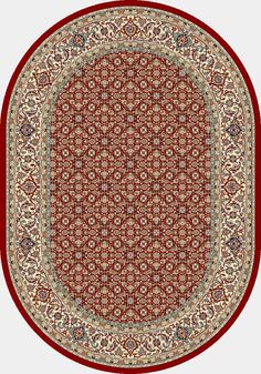 Ancient Garden Red/Ivory Area Rug