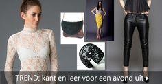 Designers creaties van kant en leer - een selectie voor een sexy avond: http://www.designers-fashion.com/kant-leer