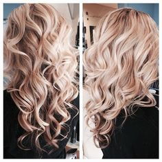 blonde curly hair / curls #Blonde #Curls