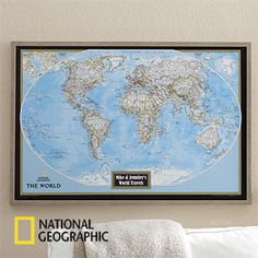 Personalized world map with pins of where youve been and where you personalized world map from national geographic gumiabroncs Image collections