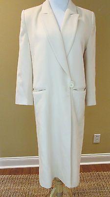 FLEURETTE California Elegant  Neiman Marcus Vtg Cream 100% Cashmere Coat Medium