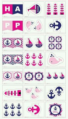 Nautical Party, 7th Birthday, Baby Boy Shower, Party Themes, Scrapbook, Nautical Theme, Navy Sailor, Party, Fiesta Marinera
