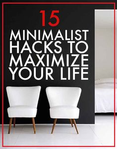 15 Minimalist Hacks To Maximize Your Life - Super simple tips to declutter and get organized fast! Minimalist Lifestyle, Minimalist Home, Minimal Living, Simple Living, Interior Minimalista, Ideas Para Organizar, D House, Tiny House, Organization Hacks
