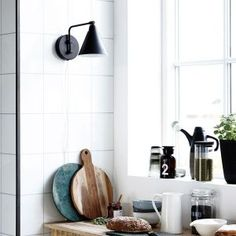 Stunning Game wall lamp from Danish brand House Doctor. Combine this lamp with your Nordic furniture! House Doctor, Plug In Wall Sconce, Wall Mounted Light, White Wall Lights, Appliques Murales Vintage, Innovation Living, Anglepoise Lamp, Nordic Furniture, Luminaire Applique