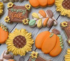 Summer Cookies, Fall Cookies, Iced Cookies, Cut Out Cookies, Cute Cookies, Holiday Cookies, Cupcake Cookies, Cookies Et Biscuits, Cookie Favors