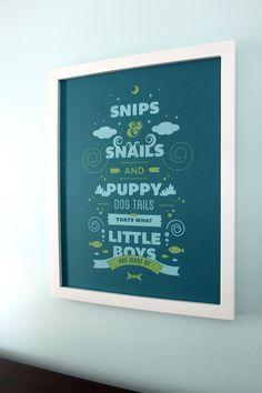 Snips & Snails - - Little Boys Nursery Art