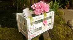 Beautiful, Personalised, Wedding crates available to buy from Esty TiasSecrectGarden