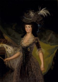 "Francisco de Goya: ""La reina María Luisa de Parma"". Oil on canvas, 152 x 110 cm, 1790. Museo Nacional del Prado, Madrid, Spain"