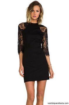 Sensuales y elegantes vestidos negros de encaje moda 2014