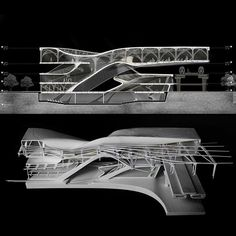 Work by from Columbia GSAPP // Final model and render Arbeiten von @ aus Columbia GSAPP // Endmodell und Rendern Concept Architecture, Futuristic Architecture, Interior Architecture, Zaha Hadid, Sci Arc, University Architecture, Section Drawing, Columbia, Arch Model