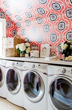 Laundry Room Inspirations | Accessorize your Laundry area just as you would the rest of your home