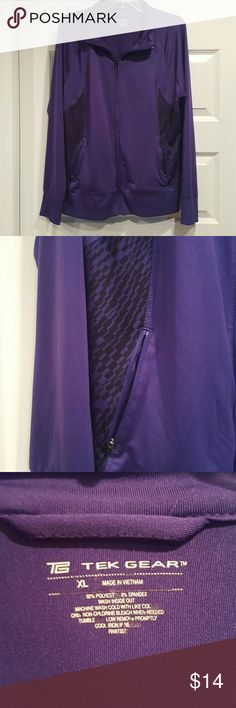 Athletic Purple Jacket Cute purple polyester/spandex light jacket for athletic wear. Great loved condition! tek gear Jackets & Coats