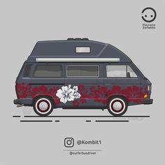 KombiT1: Volkswagen T3 Westfalia @surferbusdriver