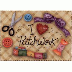 Auto adesivo Eu Amo Patchwork