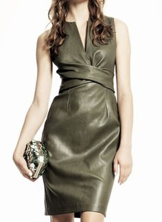 Bally Spring 2012 Olive Leather Dress Profile Photo