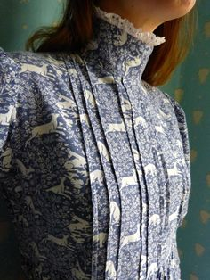 Early Vintage 1970's Laura Ashley Prarie Dress Deer Print Size 12 14 | eBay