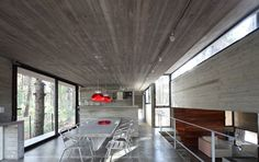 A Concrete House With Many Levels by BAK Arquitectos Photo