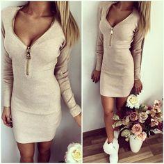 9a89e3c6b57 Bodycon Dress Long Sleeve For Women Pink Dresses