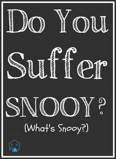 Do You Suffer Snooy? These problems will only be corrected when we refuse to be held hostage by SNOOY and the deceptive accusation of intolerance. Call wrong behavior what it is, sin!