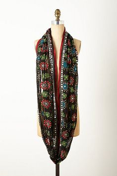 Embroidered Sungleam Infinity Scarf $48.00