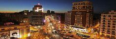 Gran Via in Madrid #Spain.