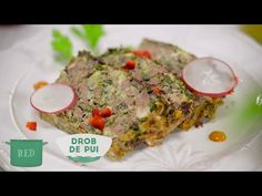 Reteta - Drob de pui aromat cu verdeturi proaspete - YouTube Meatloaf, Quiche, Breakfast, Red, Recipes, Youtube, Cooking, Salads, Morning Coffee