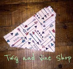Arrow Over Collar Dog Bandana| Pet Bandana|Arrows|Slip on bandana over collar bandana pet scarf by Twigandvineshop on Etsy https://www.etsy.com/listing/246339188/arrow-over-collar-dog-bandana-pet