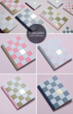 Gold Foil Check Notebooks from Studio Sarah