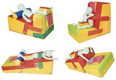 Cuñas truncadas para salas de Integración Sensorial y Terapia Ocupacional. Gross Motor Activities, Toddler Activities, Occupational Therapy, Physical Therapy, Cerebral Palsy, Special Needs Kids, Kids Furniture, Toys, Children