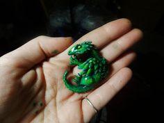 Green Dragon Pendant by PoisonJARCreations.deviantart.com on @deviantART