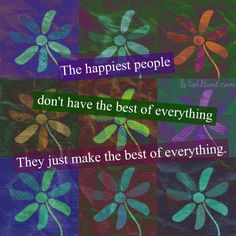 The happiest people .....
